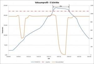 Abbildung 4: Ausgewähltes Vakuumprofil für die Lötaufgabe