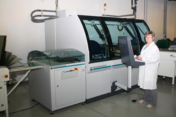 Stetige Investitionen in Technik. Direktbelichter der Schweizer Printprocess.